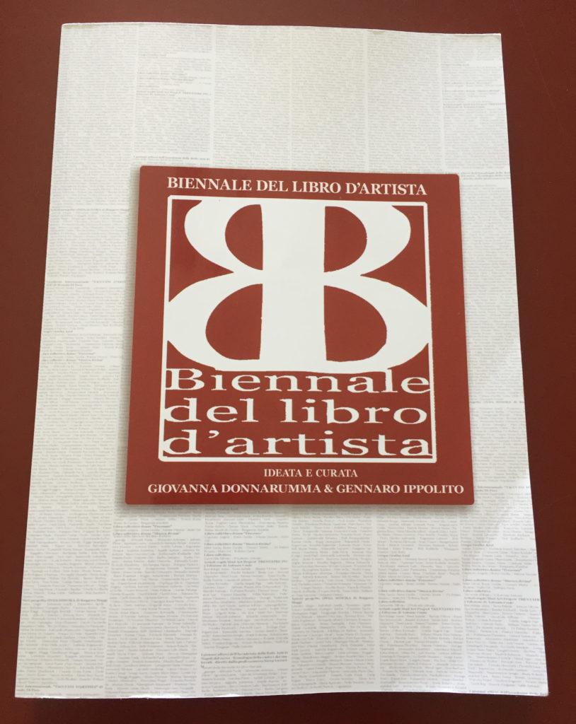 copertina catalogo 5 Biennale diel libro d'Artista Napoli